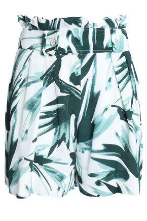 BY MALENE BIRGER Belted floral-print crepe shorts