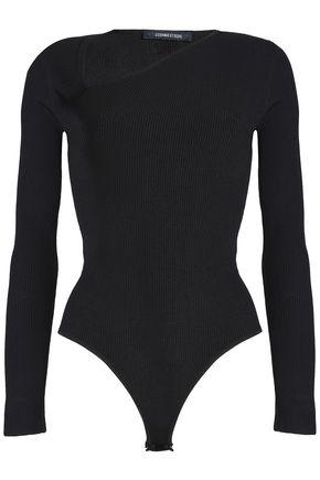 CUSHNIE ET OCHS Vivian asymmetric ribbed-knit bodysuit