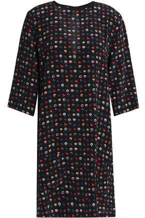 EQUIPMENT Floral-print silk crepe de chine mini dress