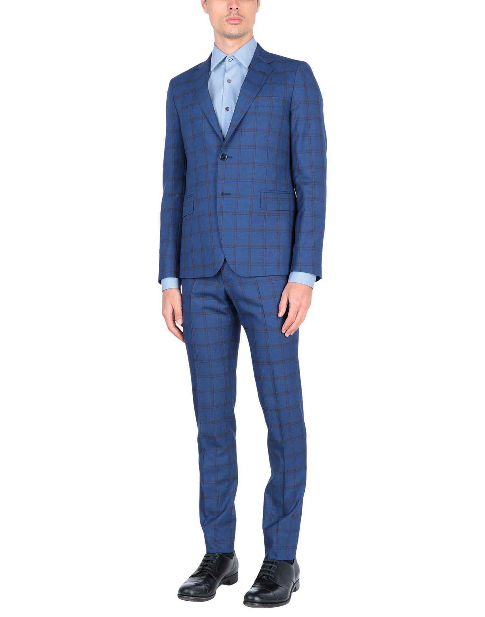《送料無料》BRIAN DALES メンズ スーツ ブライトブルー 46 100% ウール
