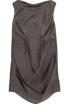 RICK OWENS Draped silk-organza tunic