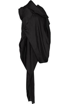 RICK OWENS Layered draped silk-organza mini dress