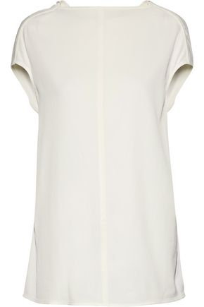 RICK OWENS Crinkled-twill top