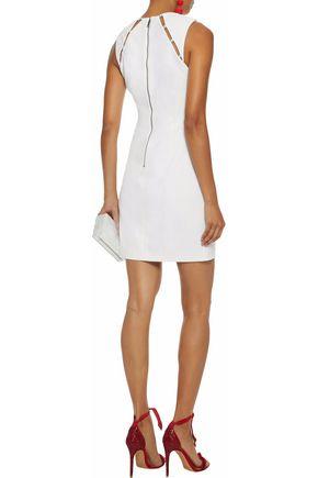 Kristiana Faux Pearl Embellished Crepe Mini Dress Alice