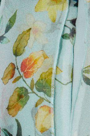 ALICE + OLIVIA Blayne cold-shoulder floral-print silk-chiffon blouse