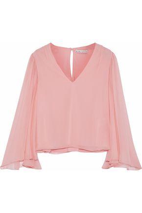 ALICE + OLIVIA JEANS Jerrica silk-chiffon blouse