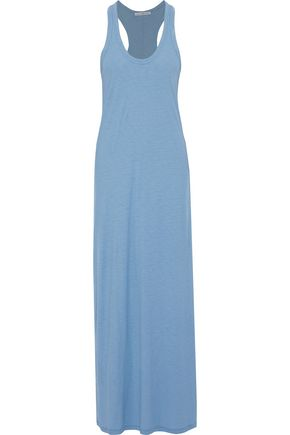 JAMES PERSE Slub cotton and modal-blend jersey maxi dress
