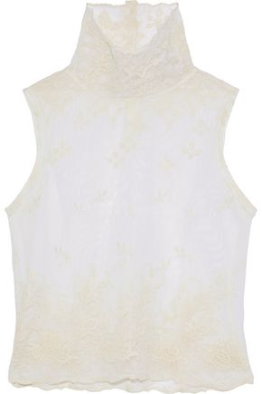 ANN DEMEULEMEESTER Genevieve embroidered cotton-tulle top