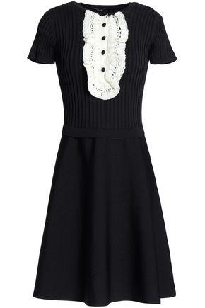 RAOUL Crochet-trimmed cotton-blend dress
