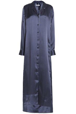 EQUIPMENT Striped silk-satin nightshirt