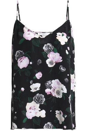 EQUIPMENT Floral-print silk crepe de chine camisole
