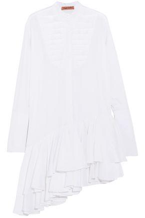 MAGGIE MARILYN Super Human pleated asymmetric cotton-poplin shirt dress