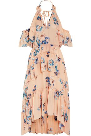 ULLA JOHNSON Valentine ruffled floral-print silk-georgette dress