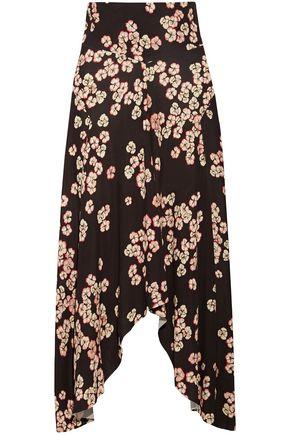 0145a63452a ISABEL MARANT Dracen asymmetric floral-print stretch-jersey midi skirt ...