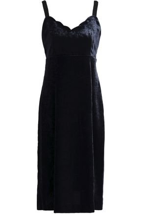 CLAUDIE PIERLOT Scalloped velvet dress