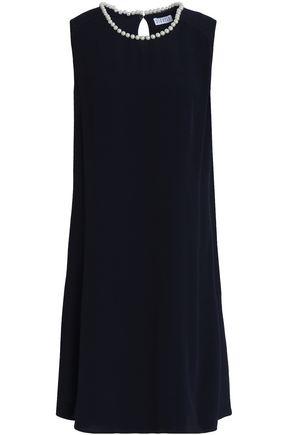 CLAUDIE PIERLOT Fluted embellished crepe dress