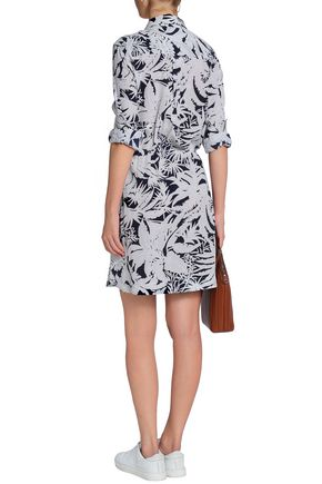 EQUIPMENT Emmanuelle printed washed-silk mini shirt dress