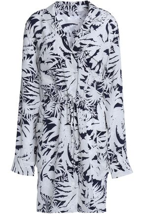 EQUIPMENT Emmanuelle printed washed-silk mini shirt dress