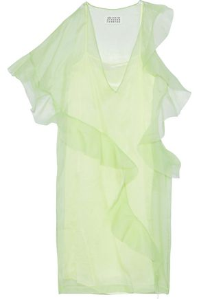 MAISON MARGIELA Ruffled silk-organza dress