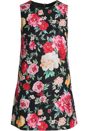 RAOUL Floral-jacquard mini dress