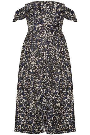 APIECE APART Novella Maria off-the-shoulder printed cotton and silk-blend midi dress