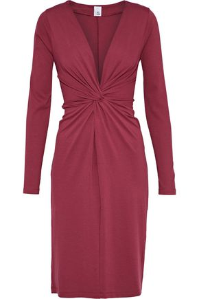 IRIS & INK Linda twist-front stretch-jersey dress