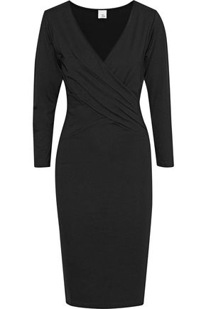 IRIS & INK Yasmin wrap-effect stretch-jersey dress