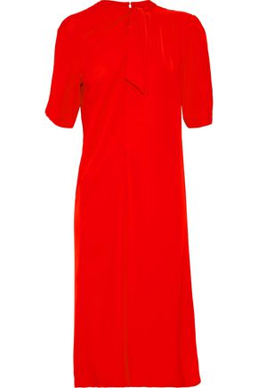 MAISON MARGIELA Tie-front gathered crepe de chine dress