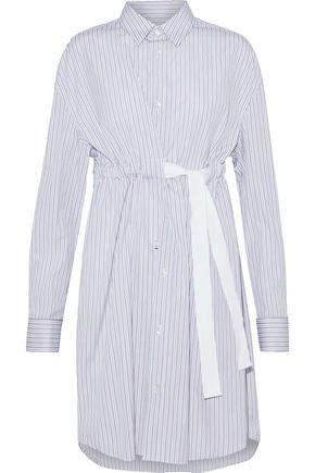 MAISON MARGIELA Striped cotton-poplin shirt dress
