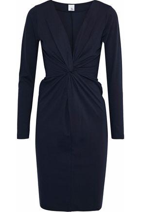 IRIS & INK Linda twist-front stretch-jersey dress