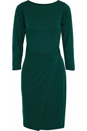 IRIS & INK Ali wrap-effect jersey dress