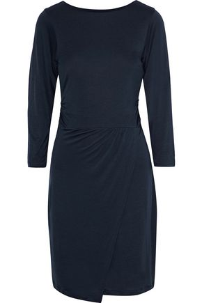IRIS & INK Ali wrap-effect ruched jersey dress