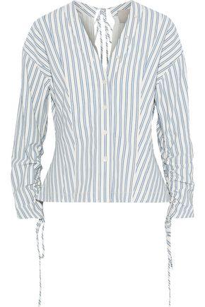 JASON WU Tie-back striped poplin top