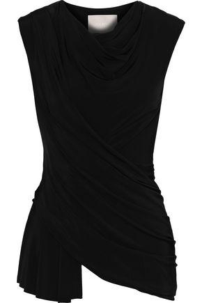 JASON WU Asymmetric draped stretch-jersey top