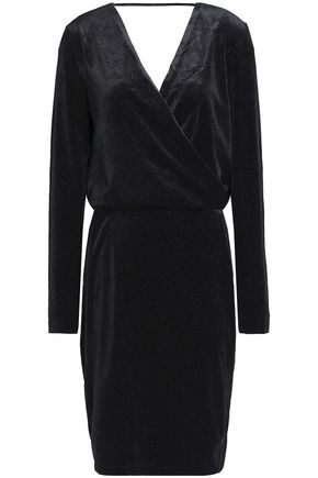 BY MALENE BIRGER Wrap-effect metallic velvet dress