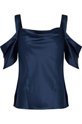 JASON WU Cold-shoulder draped satin top