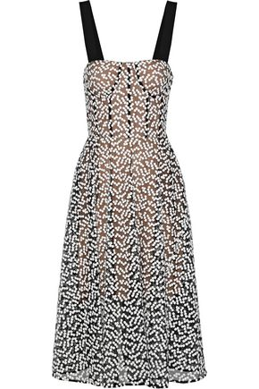 JASON WU Embroidered cotton-blend tulle dress