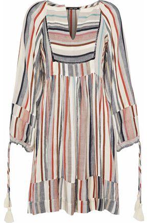 LOVE SAM Lacie striped canvas mini dress