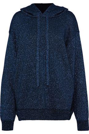 MAISON MARGIELA Metallic stretch-knit hooded sweatshirt