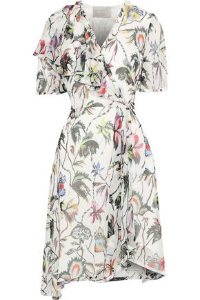 JASON WU Wrap-effect floral-print silk-georgette dress