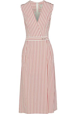 JASON WU Wrap-effect striped poplin dress