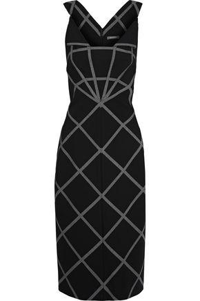 ZAC POSEN Checked cady dress