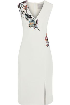 JASON WU Appliquéd crepe dress
