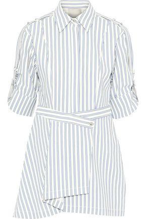 JASON WU Wrap-effect striped poplin tunic