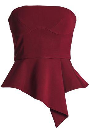 CUSHNIE ET OCHS Evita strapless stretch-crepe peplum top