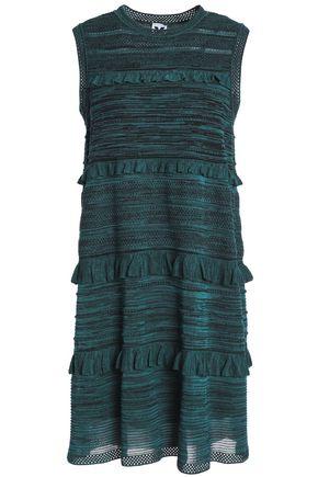 M MISSONI Ruffle-trimmed wool, angora and alpaca-blend mini dress