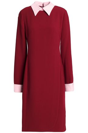 MIKAEL AGHAL Two-tone crepe dress