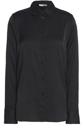 VINCE. Stretch-silk crepe de chine shirt