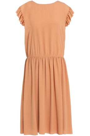 M MISSONI Ruffle-trimmed gathered crepe dress