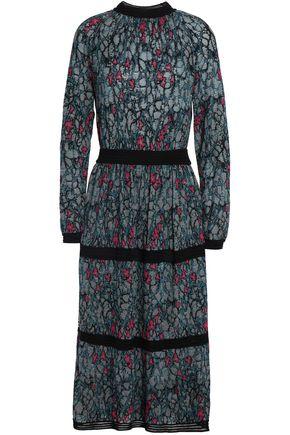 M MISSONI Tiered wool-blend jacquard dress